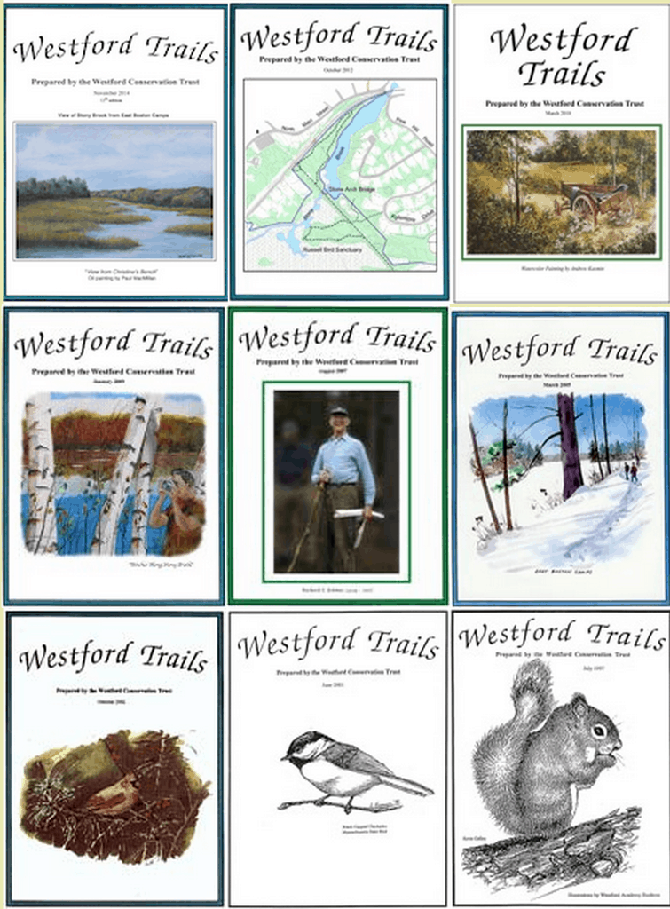 Images of trail booklet covers