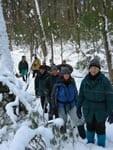photo of walkers in winter