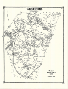 Westford Map circ 1875 (includes ponds & streams)